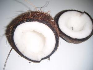Otevřený kokosový ořech