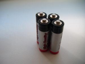čtyři nové baterie